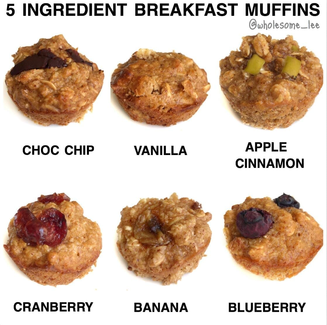 5 Ingredient Breakfast Muffins