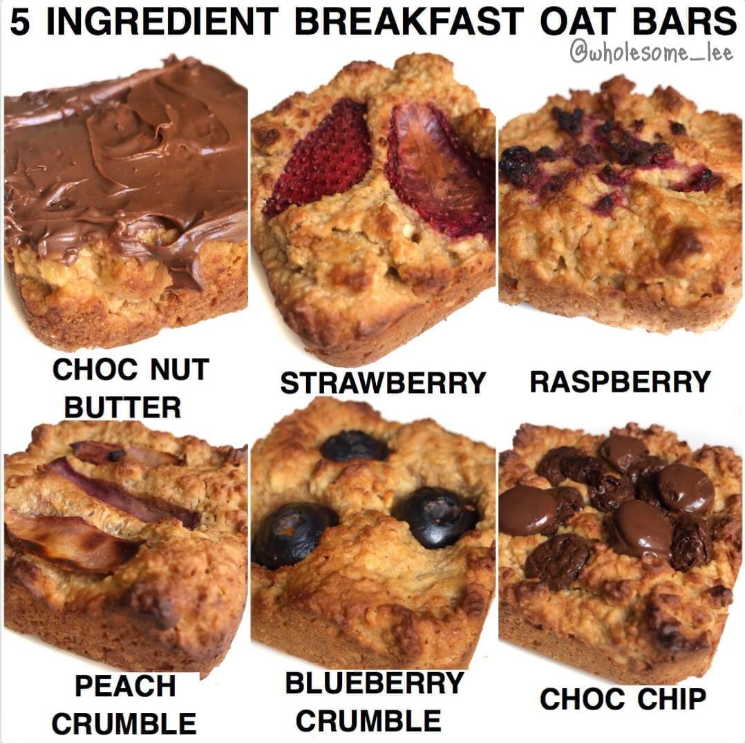 5 Ingredient Breakfast Oat Bars