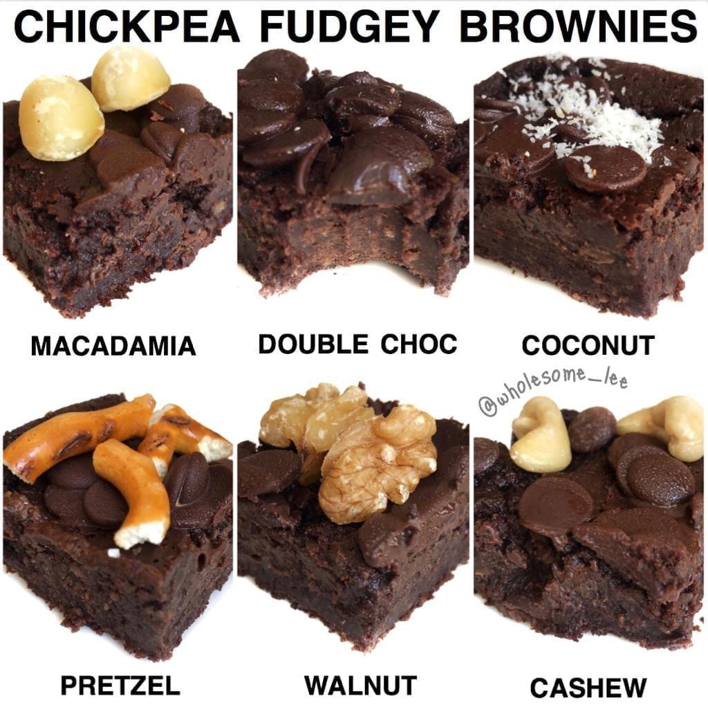 Chickpea Fudgey Brownies