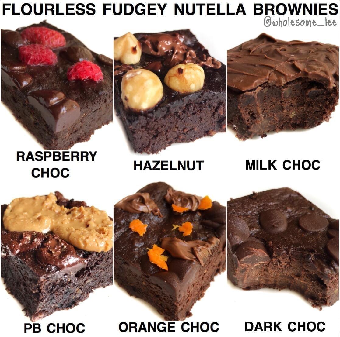Flourless Fudgey Nutella Brownies