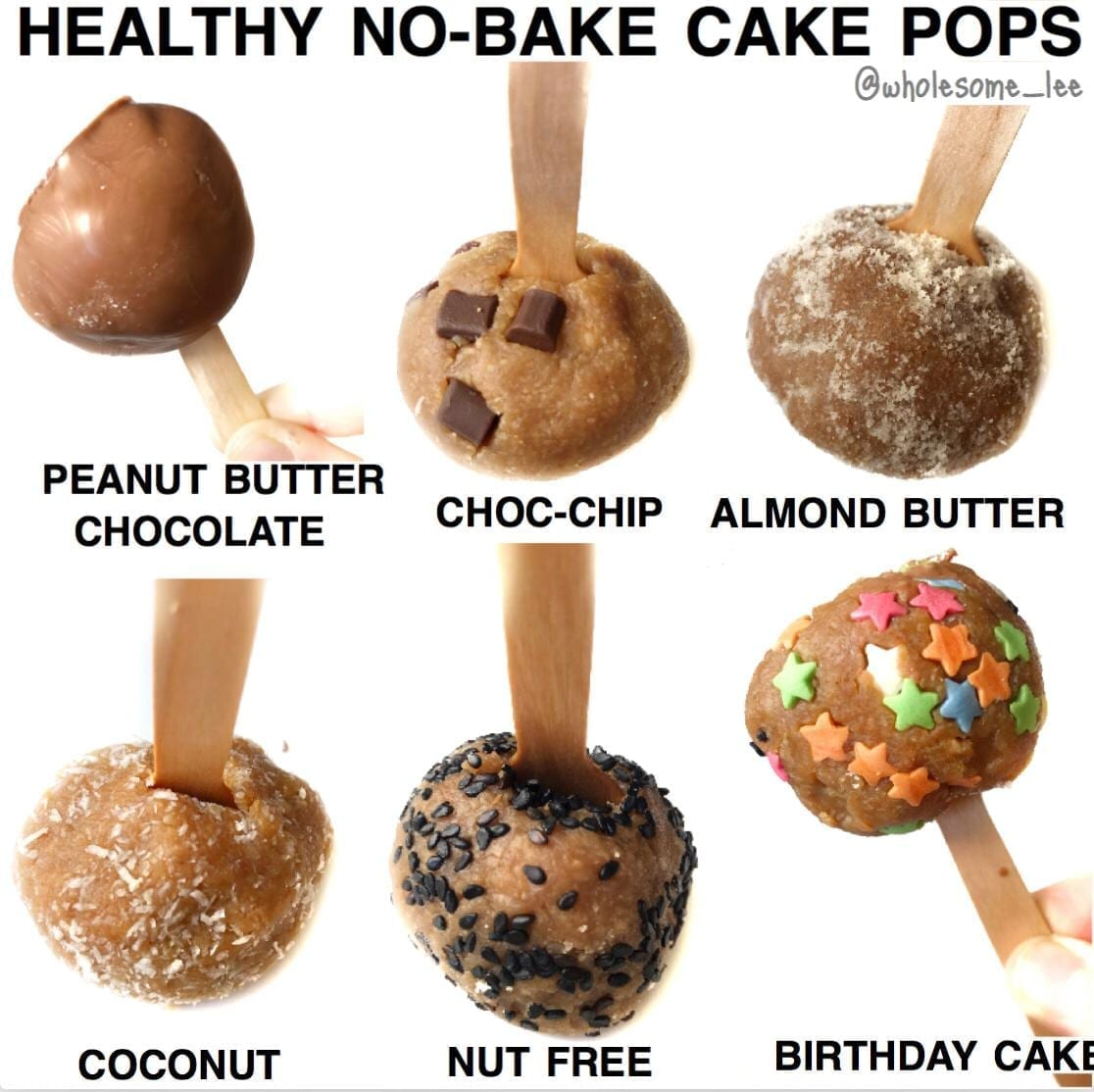Healthy No Bake Cake Pops