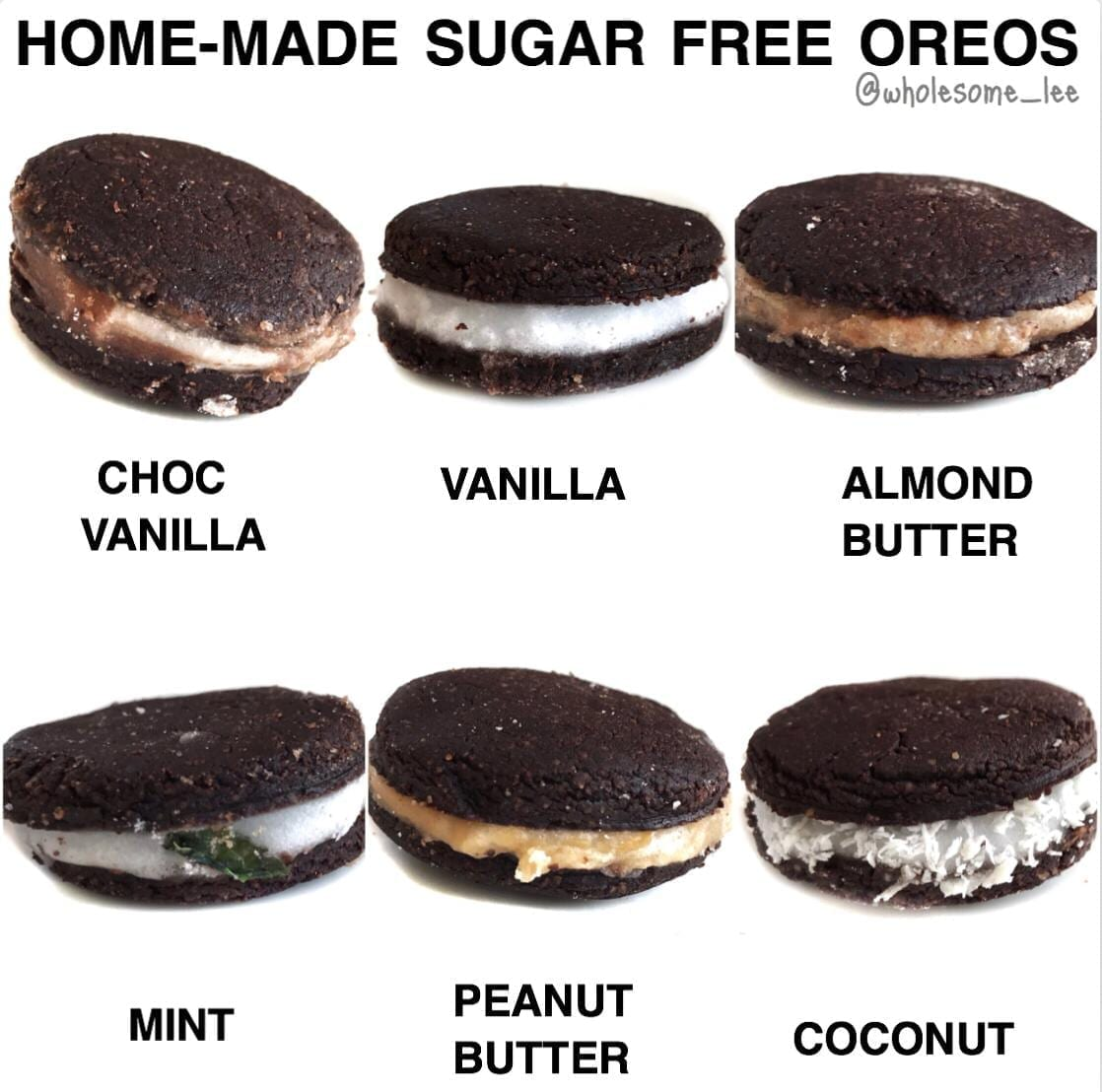 Homemade Sugar Free Oreos