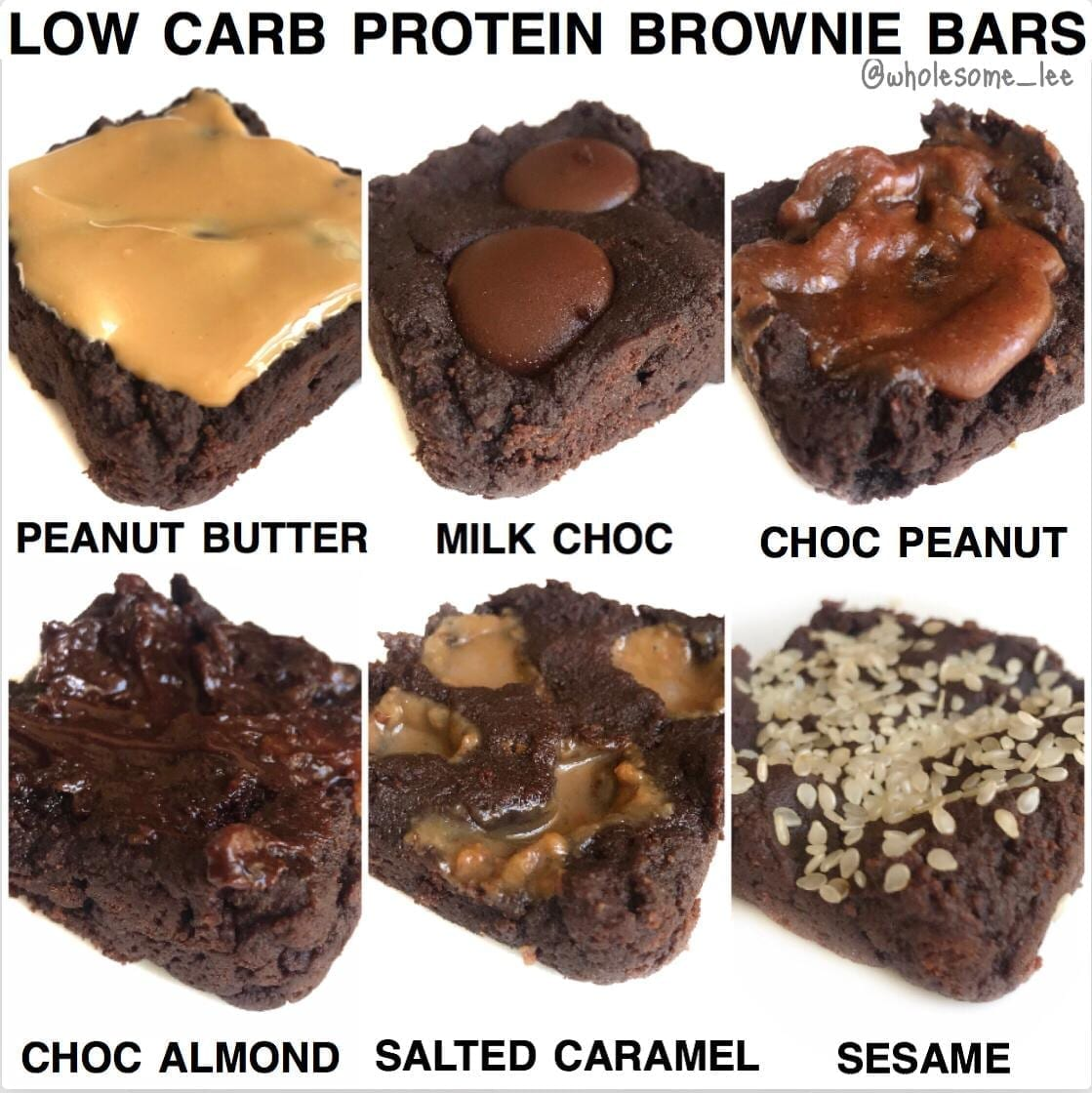 Low Carb High Protein Brownie Bars