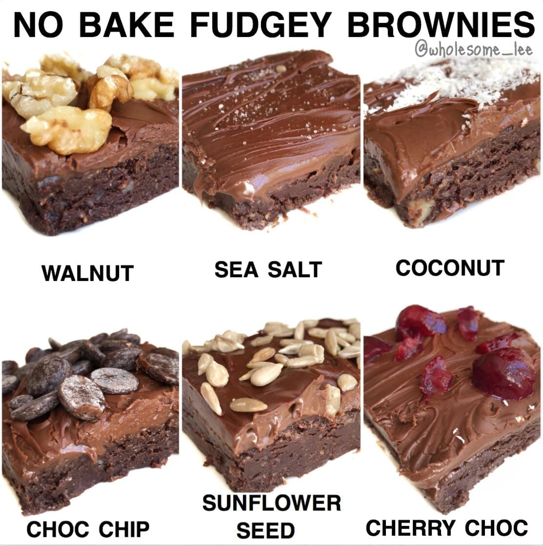 No Bake Fudgey Brownies