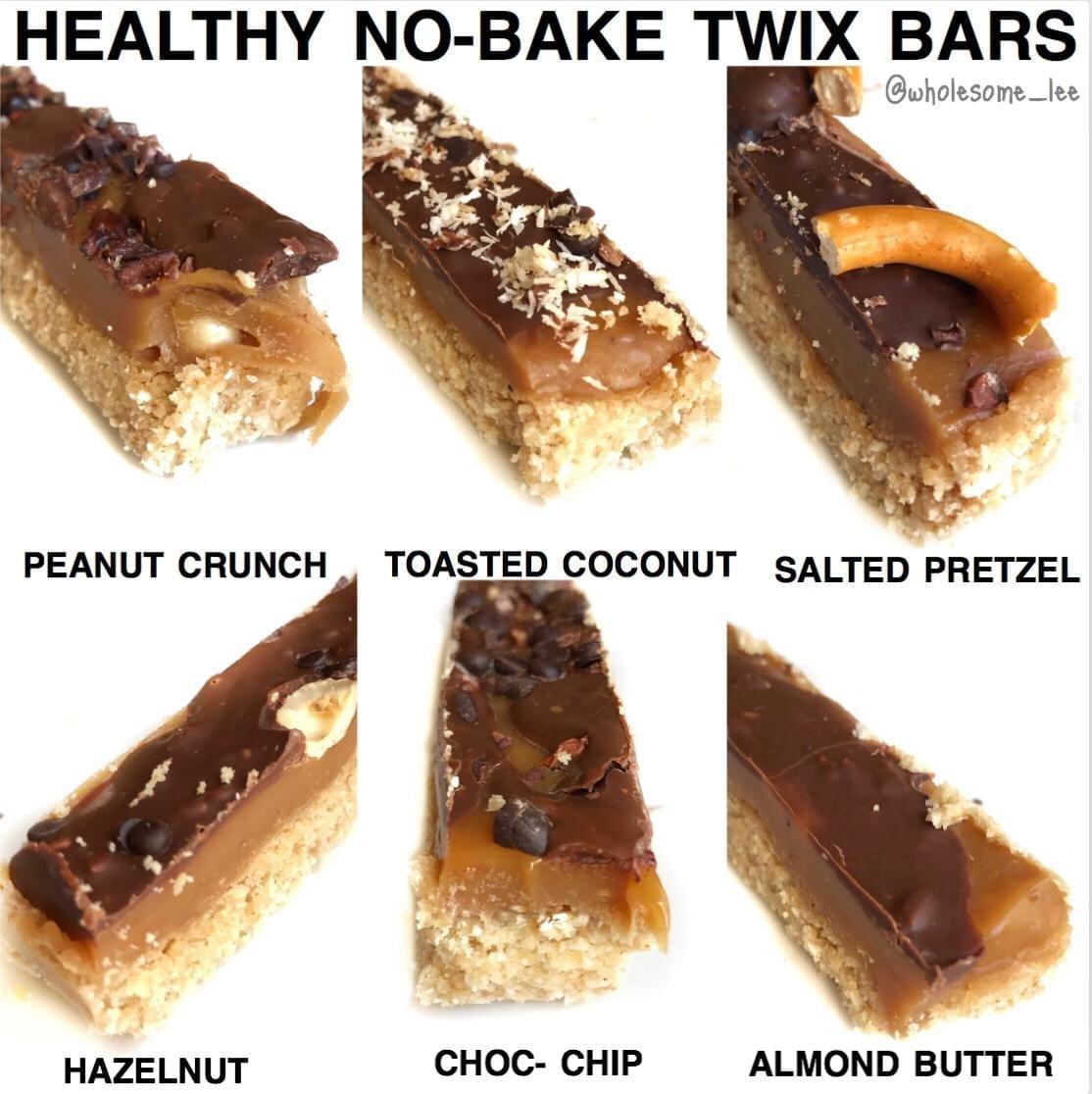 No Bake Twix Bars