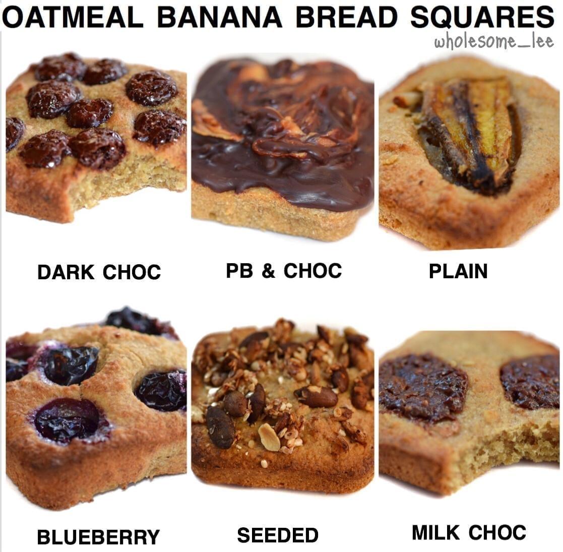 Oatmeal Banana Bread Squares