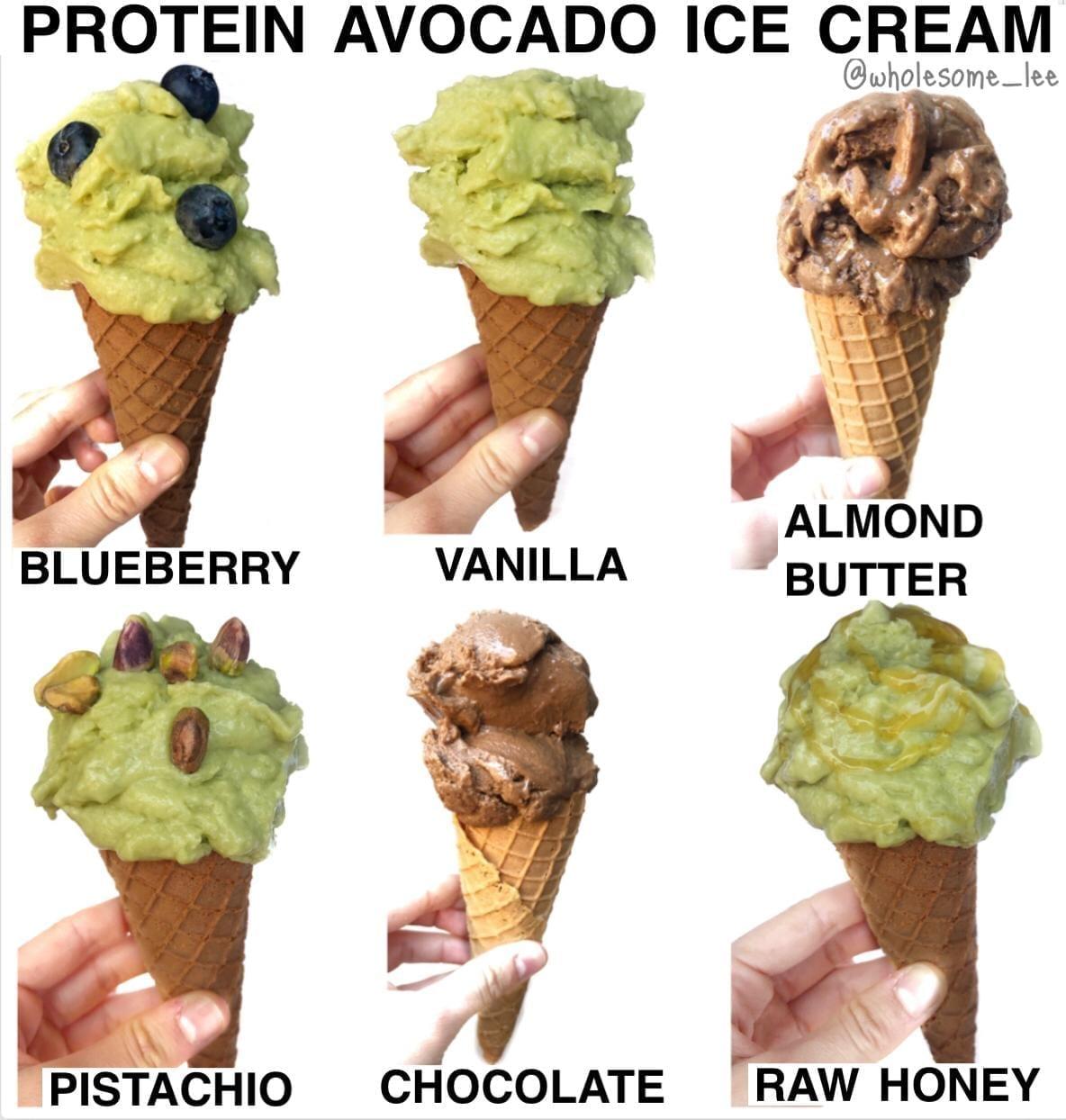 Protein Avocado Ice Cream