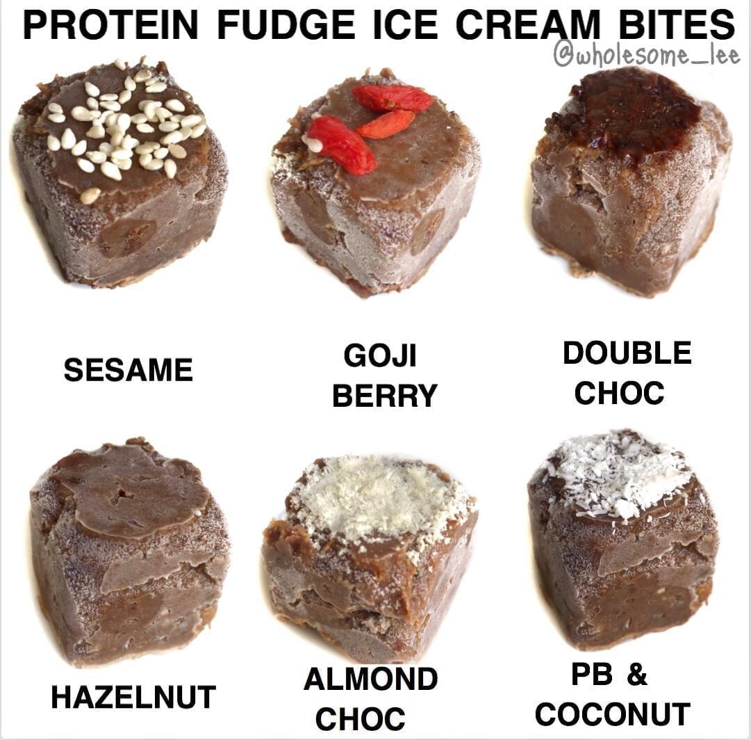 Protein Fudge Ice Cream Bites