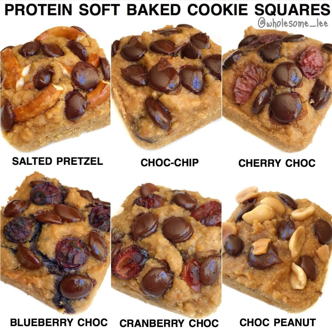 Protein Soft Baked Cookie Squares