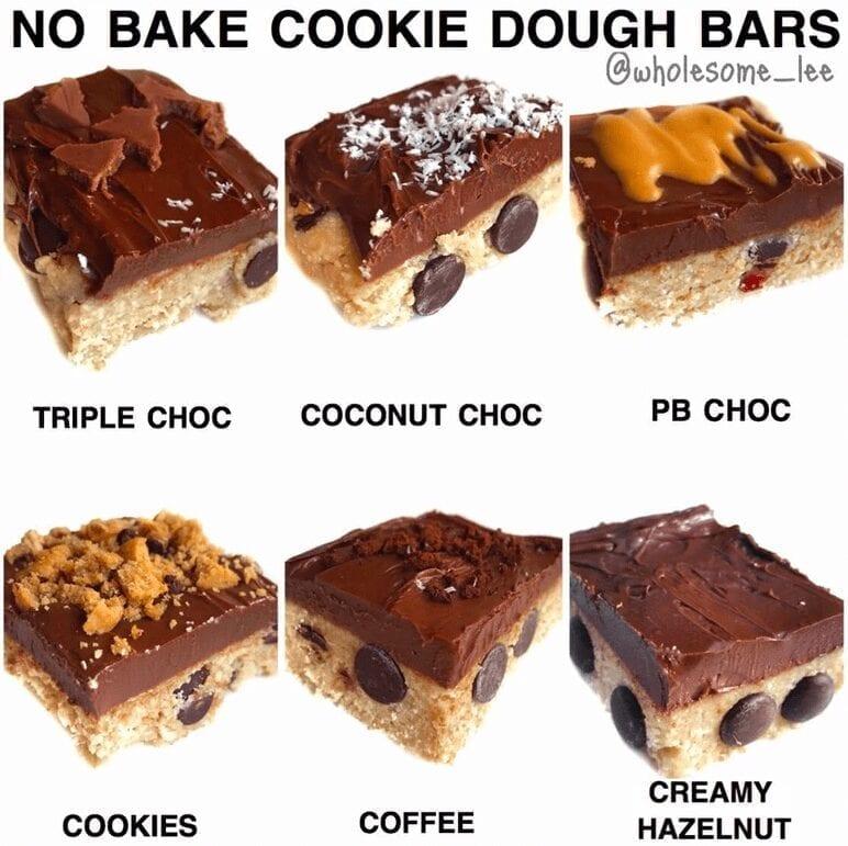 No Bake Cookie Dough Bars