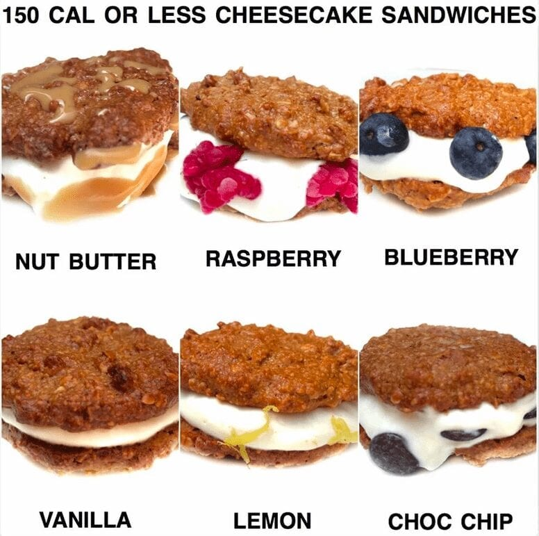 150 Calories or Less Cheesecake Sandwiches