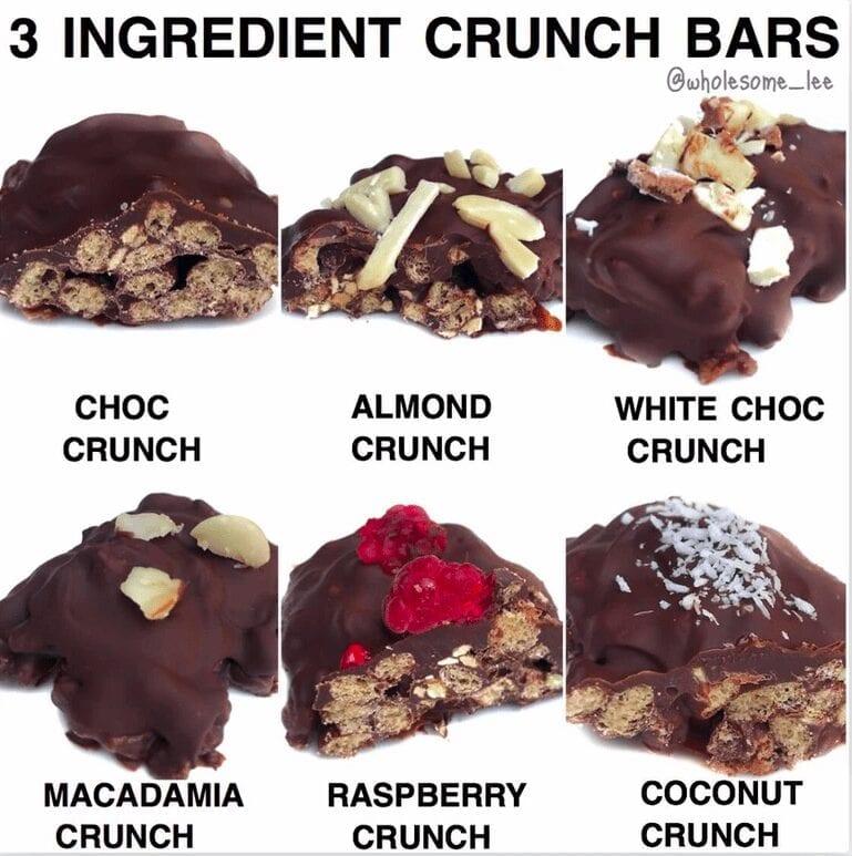 3 Ingredient Crunch Bars