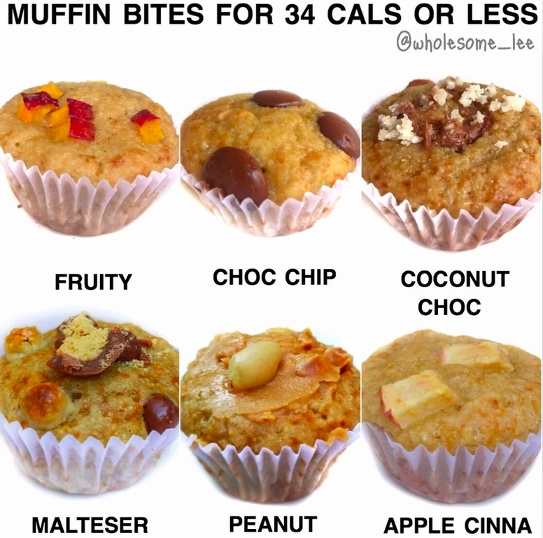 Low Calorie Muffin Bites