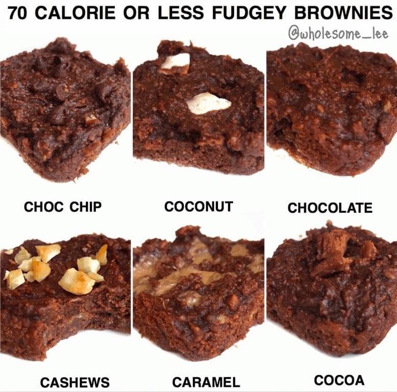 Low Calorie Fudgey Brownies