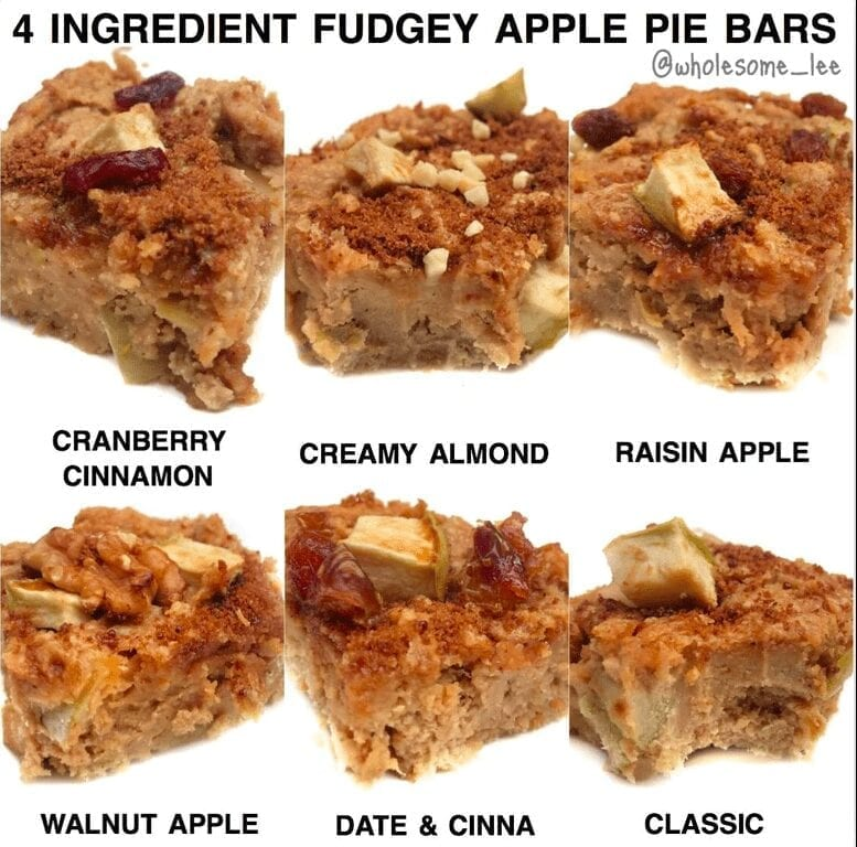 4 Ingredient Fudgey Apple Pie Bars