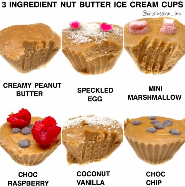 Healthy Nut Butter Ice-Cream Cups
