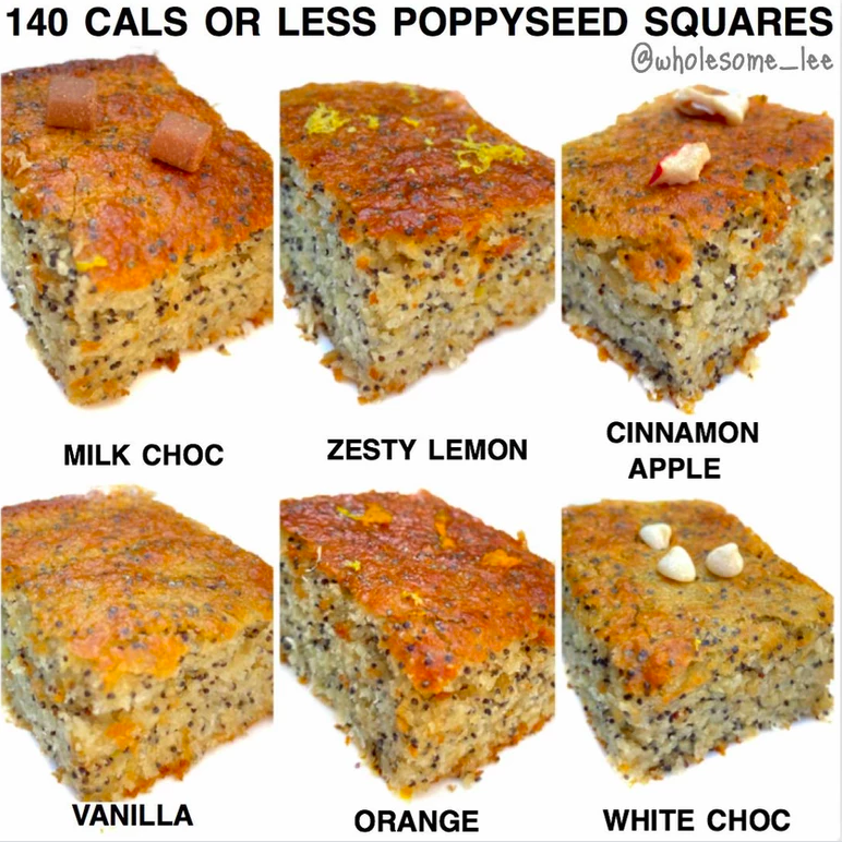 Healthy Poppy Seed Squares