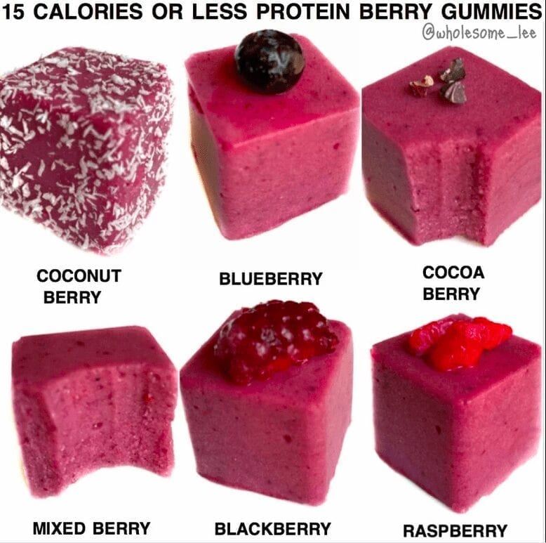 15 Calories or Less Protein Berry Gummies