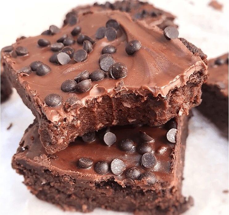 Healthy Fudgey Protein Brownies