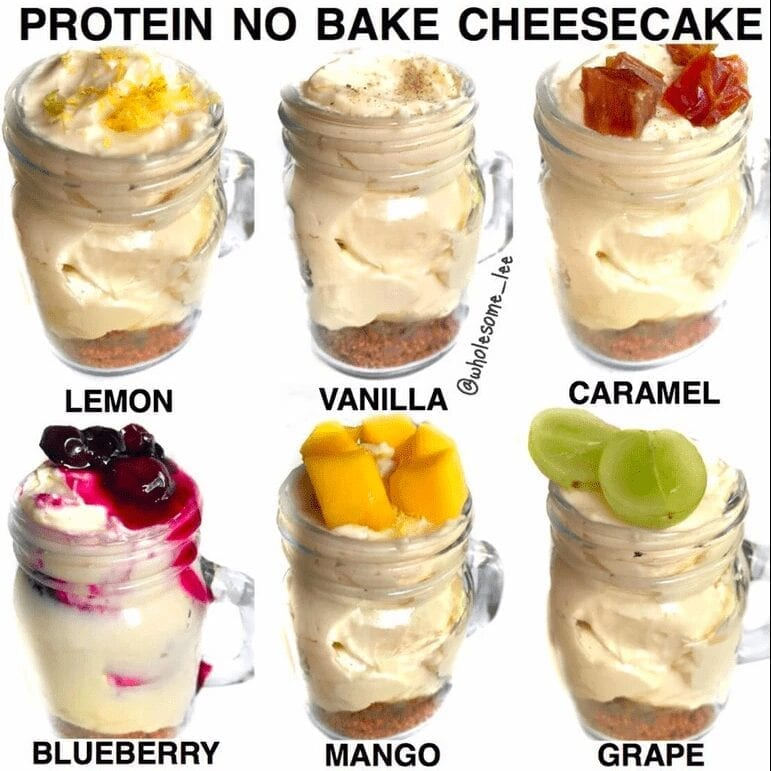 No Bake Protein Cheesecake