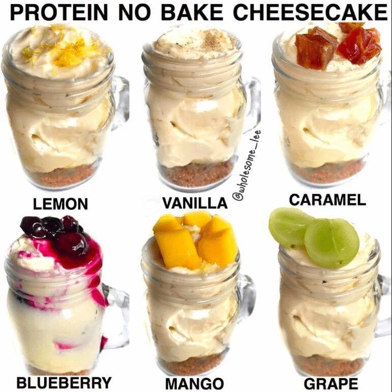 No Bake Protein Cheesecake