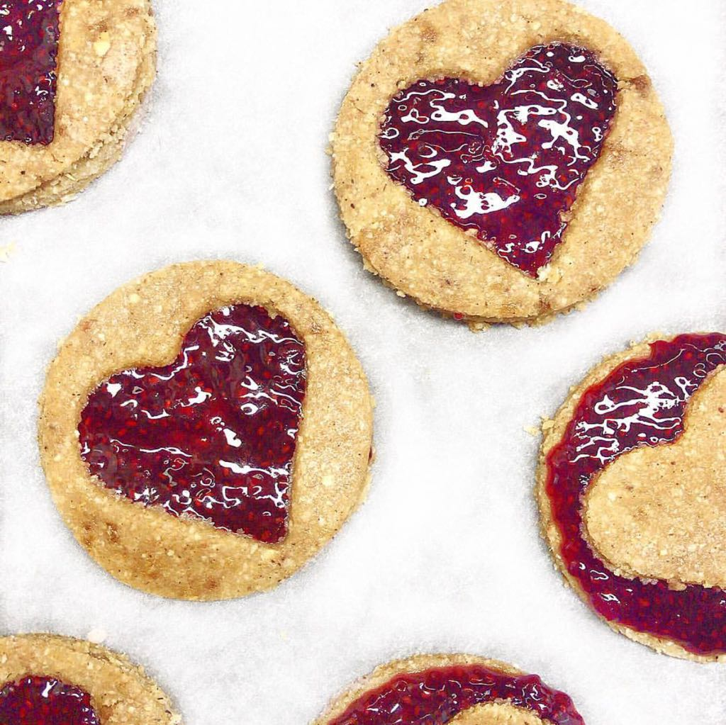 Healthy Sugar Biscuits with Raspberry Chia Jam