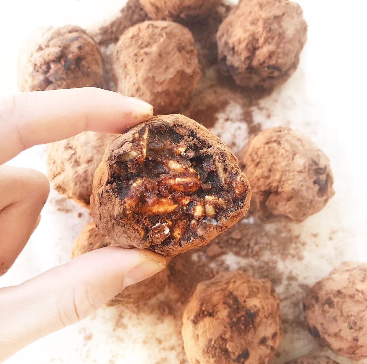 Crispy Peanut Butter & Chocolate Truffles