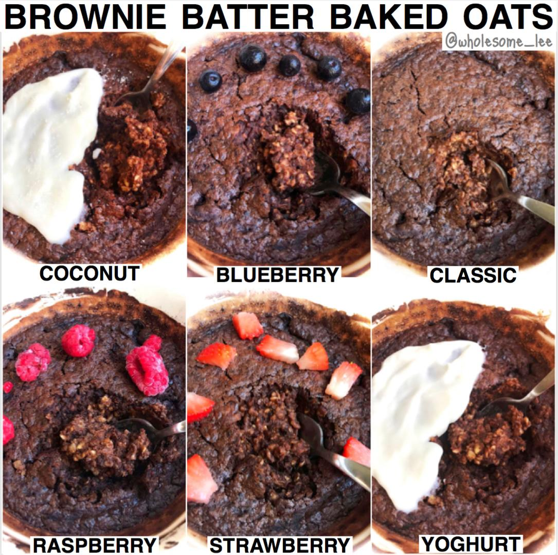 Brownie Batter Baked oatmeal