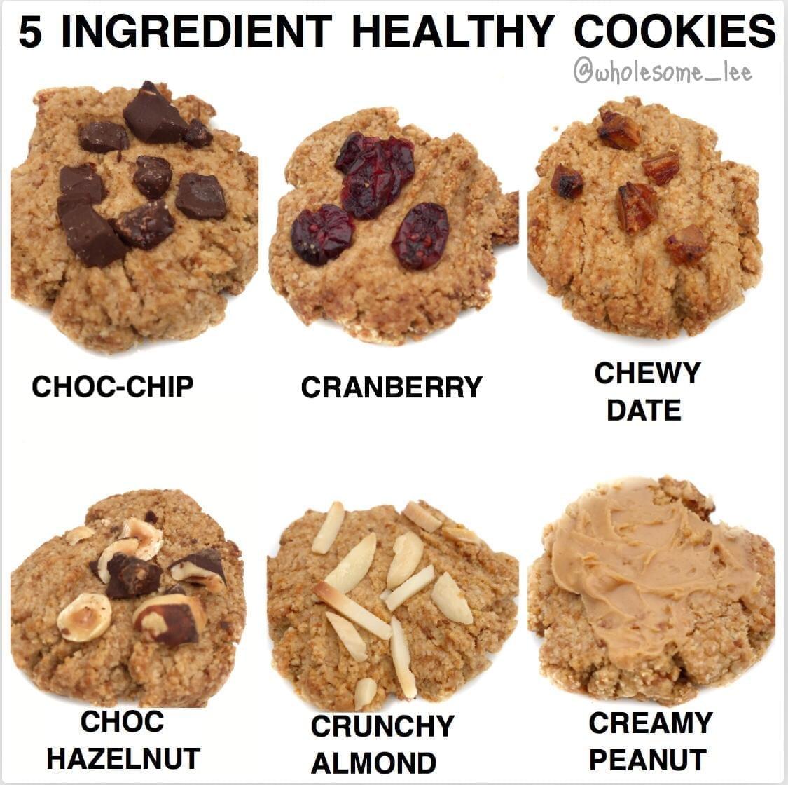 5 Ingredient Healthy Cookies
