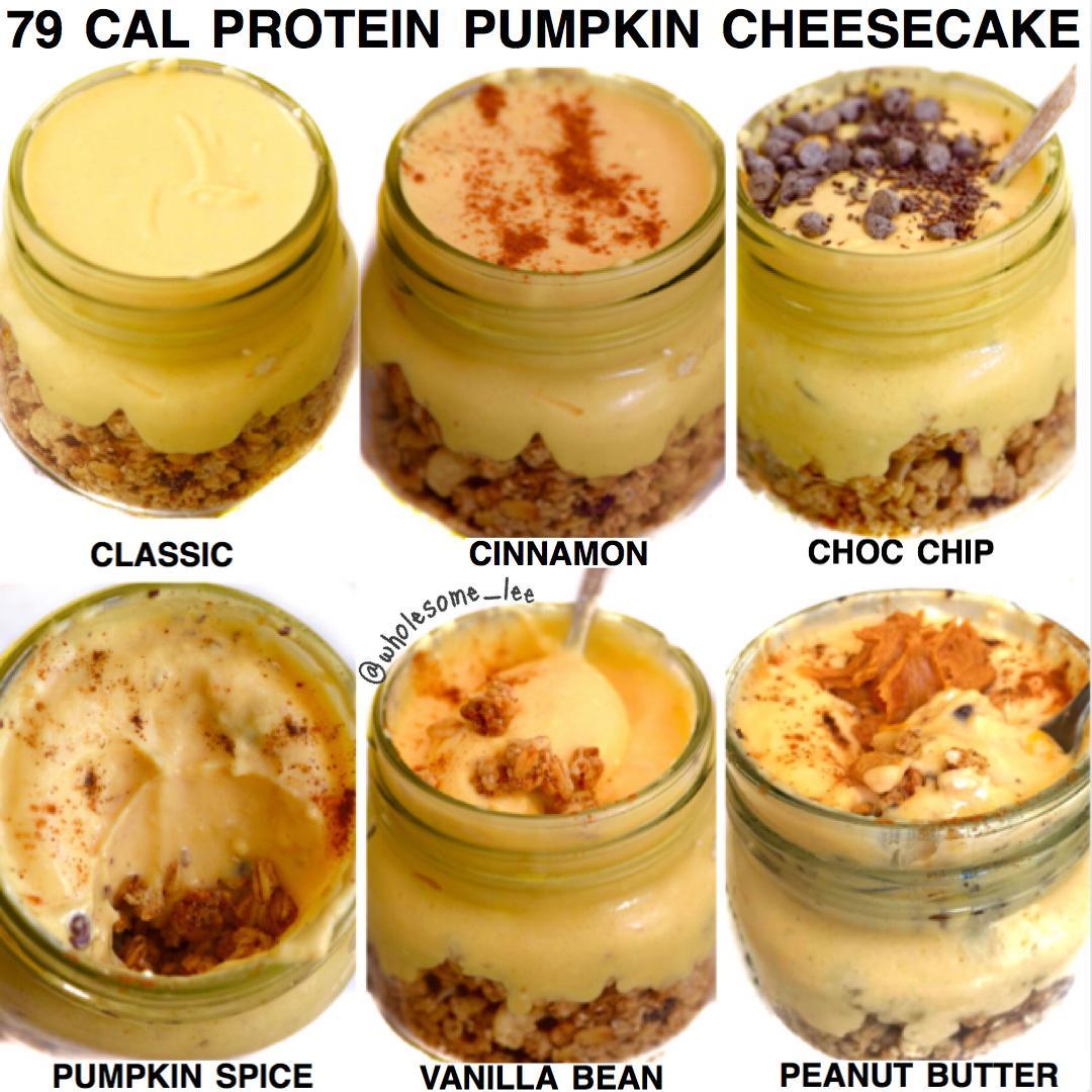 79 Calorie No Bake Pumpkin Cheesecake