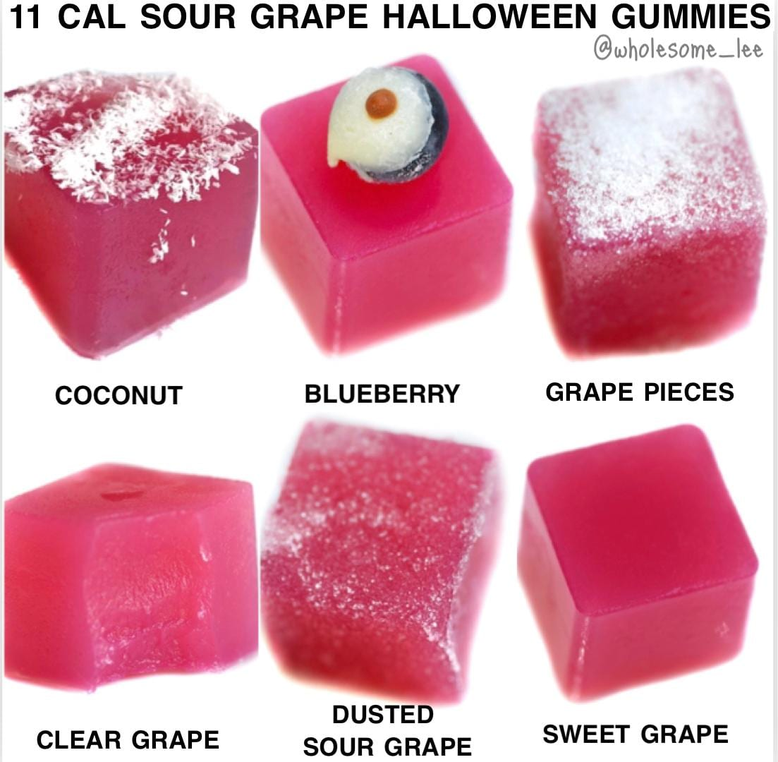 3 Ingredient Halloween Sour Grape Gummy bears