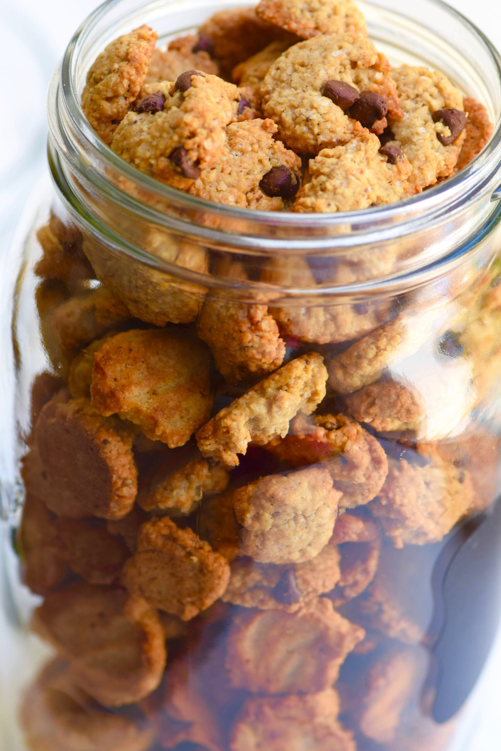 Protein cookie cereal in jar