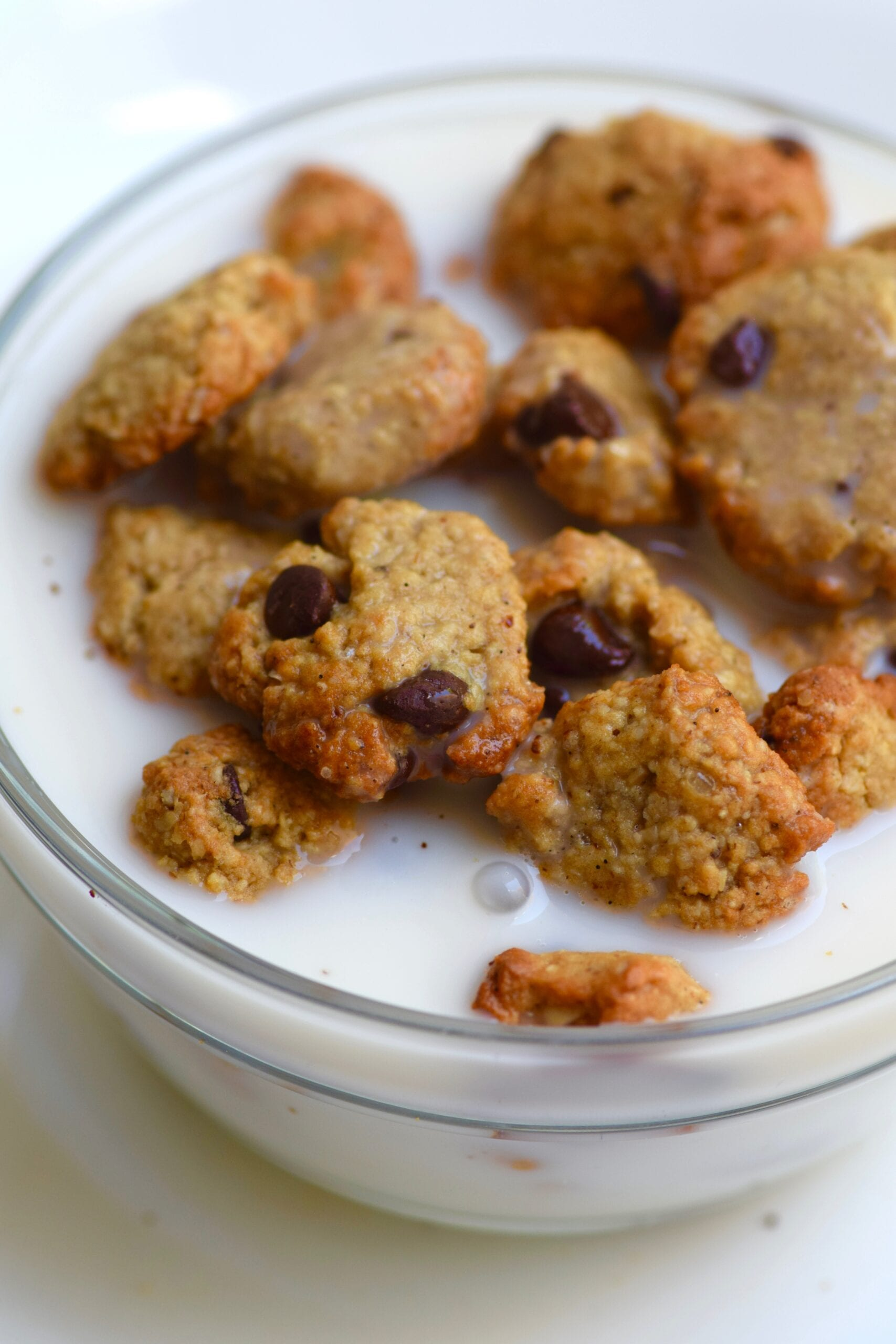 Healthy Mini protein cookie cereal with milk