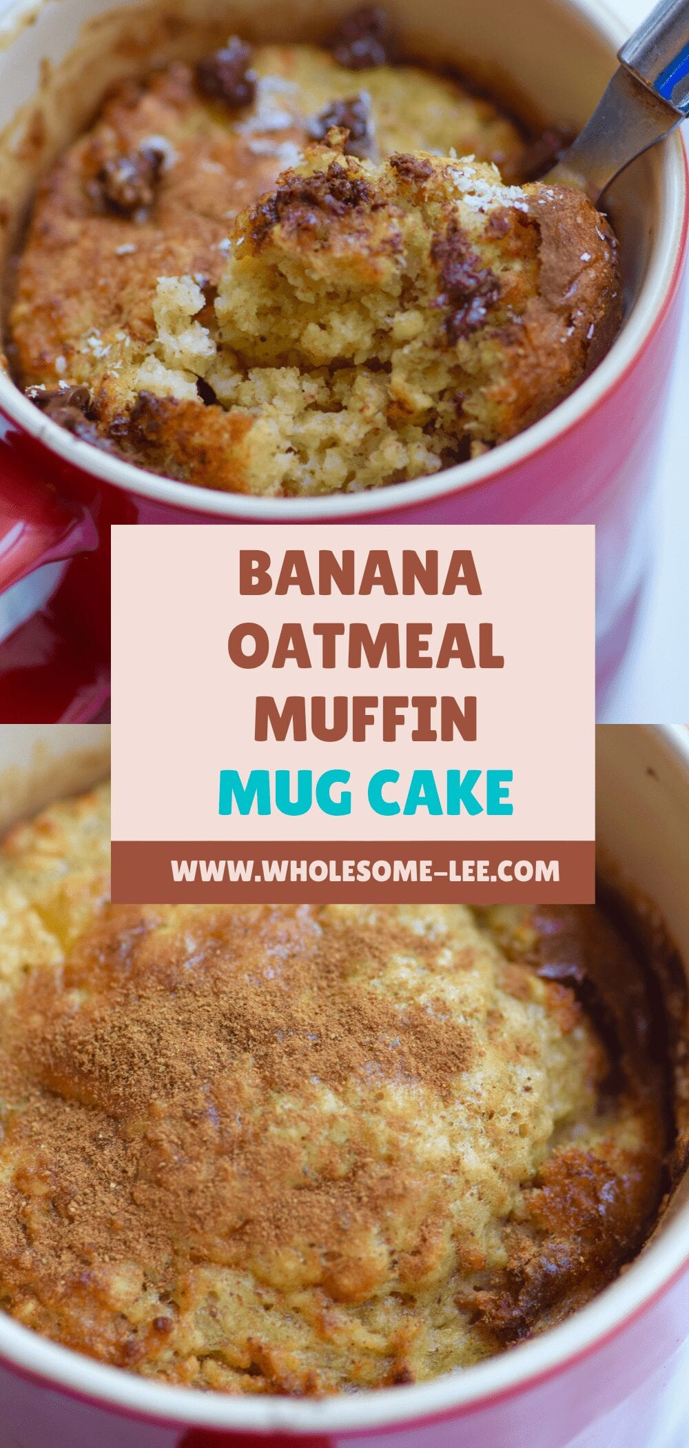 Banana Oatmeal Muffin Mug Cake