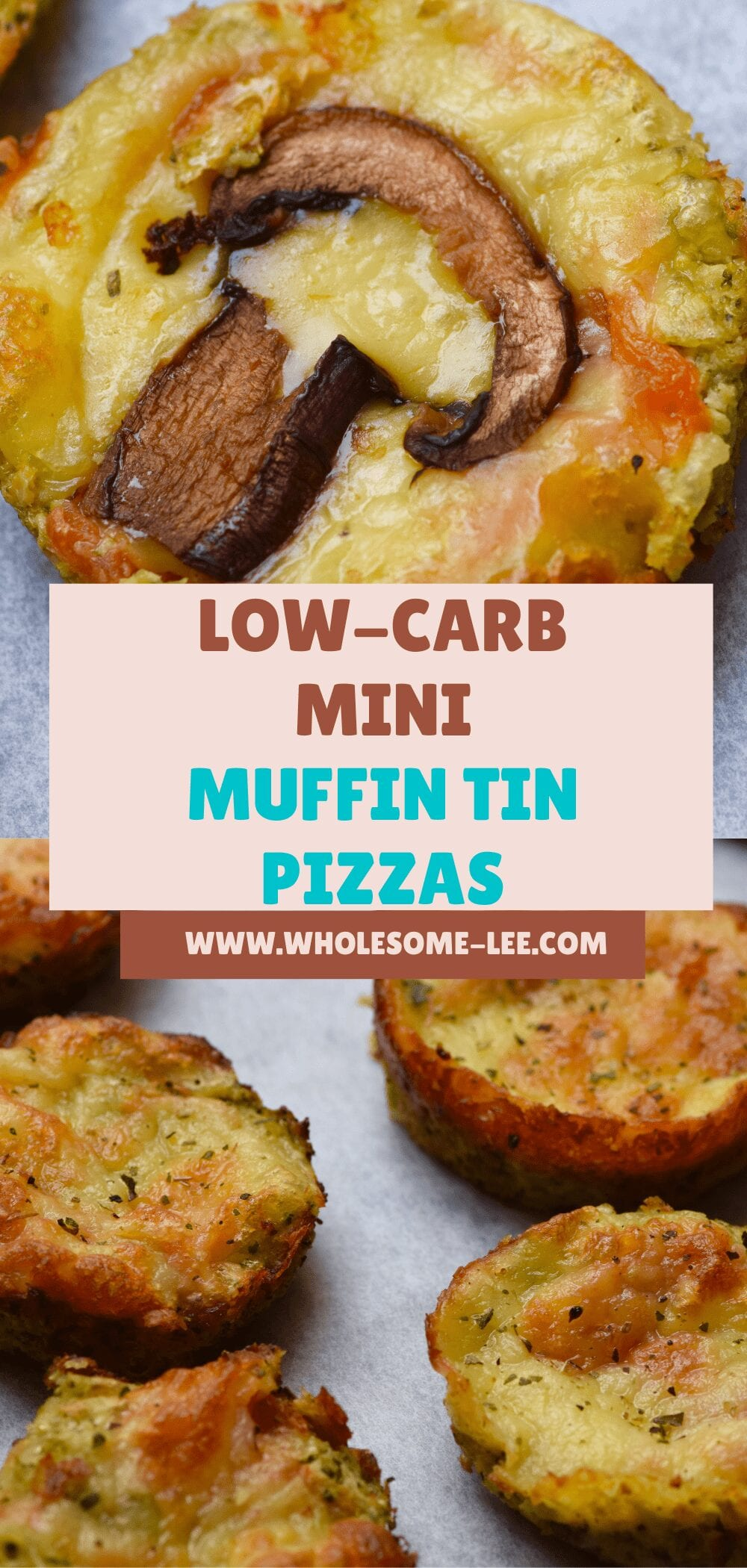 Low carb mini muffin tin pizzas