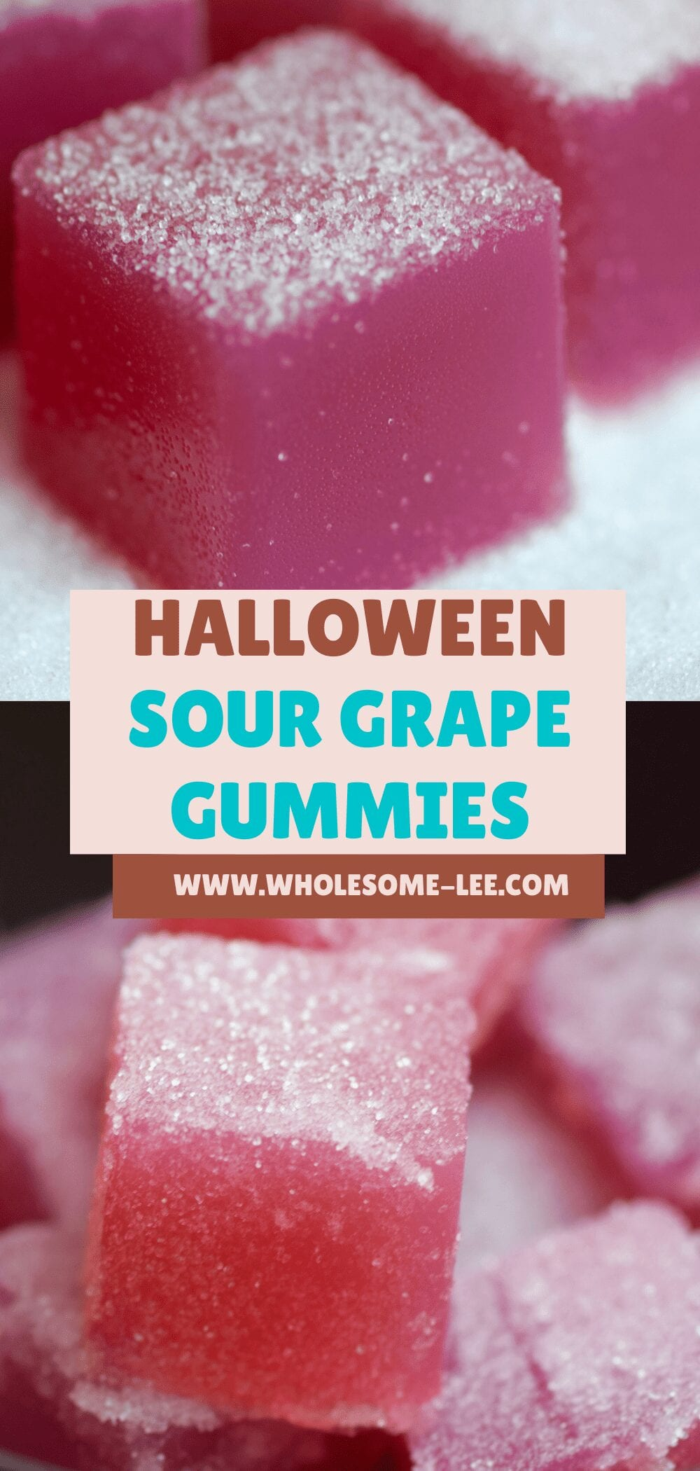 Halloween sour grape gummies
