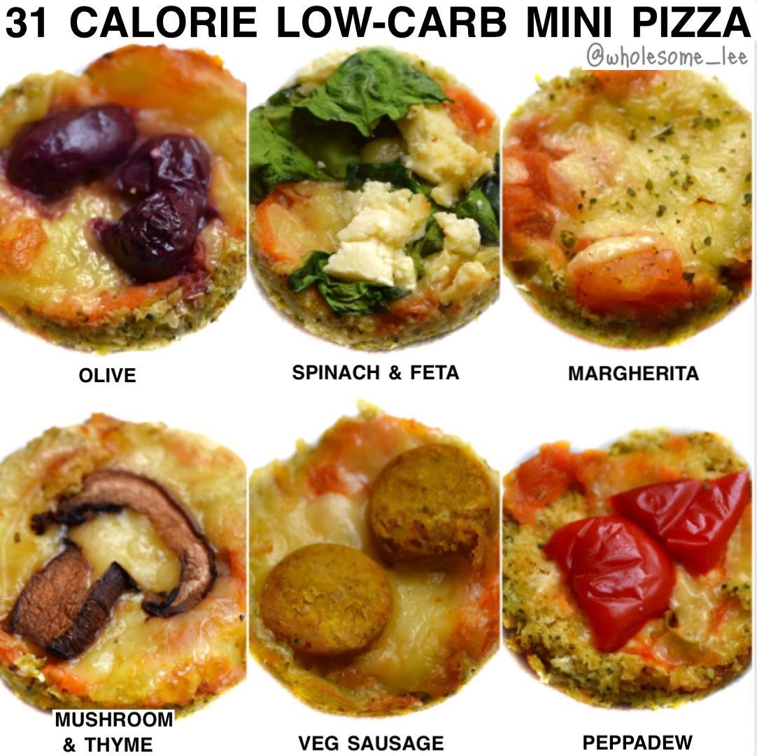 Low Carb Mini Cauliflower Pizza