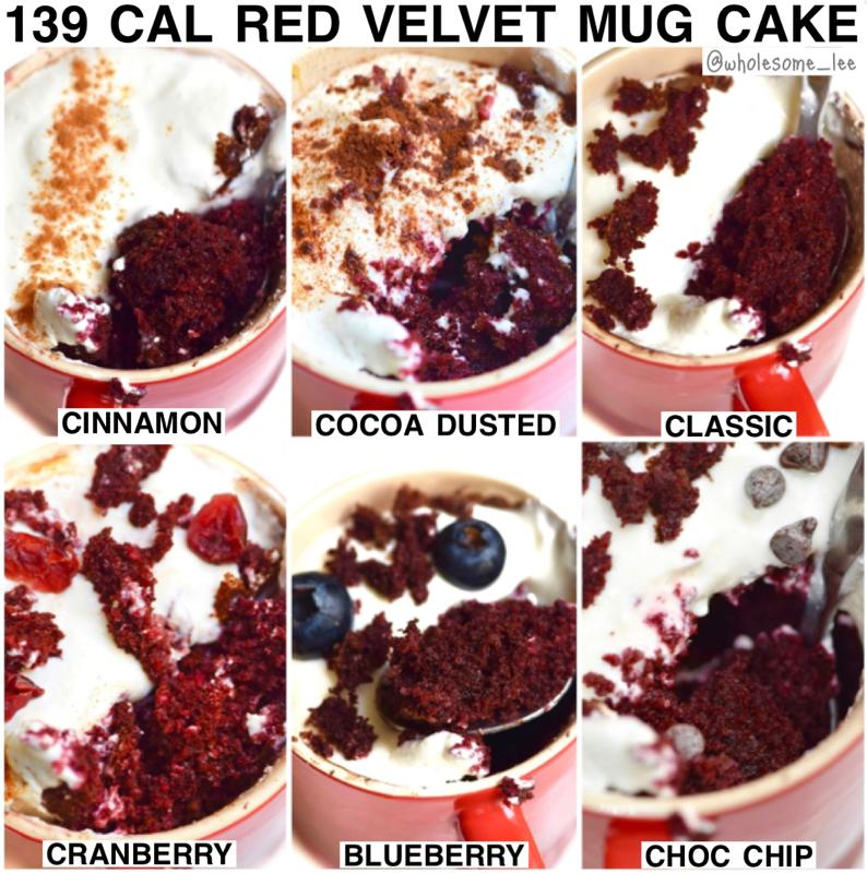 Single Serving Red Velvet Cupcake Mug Cake