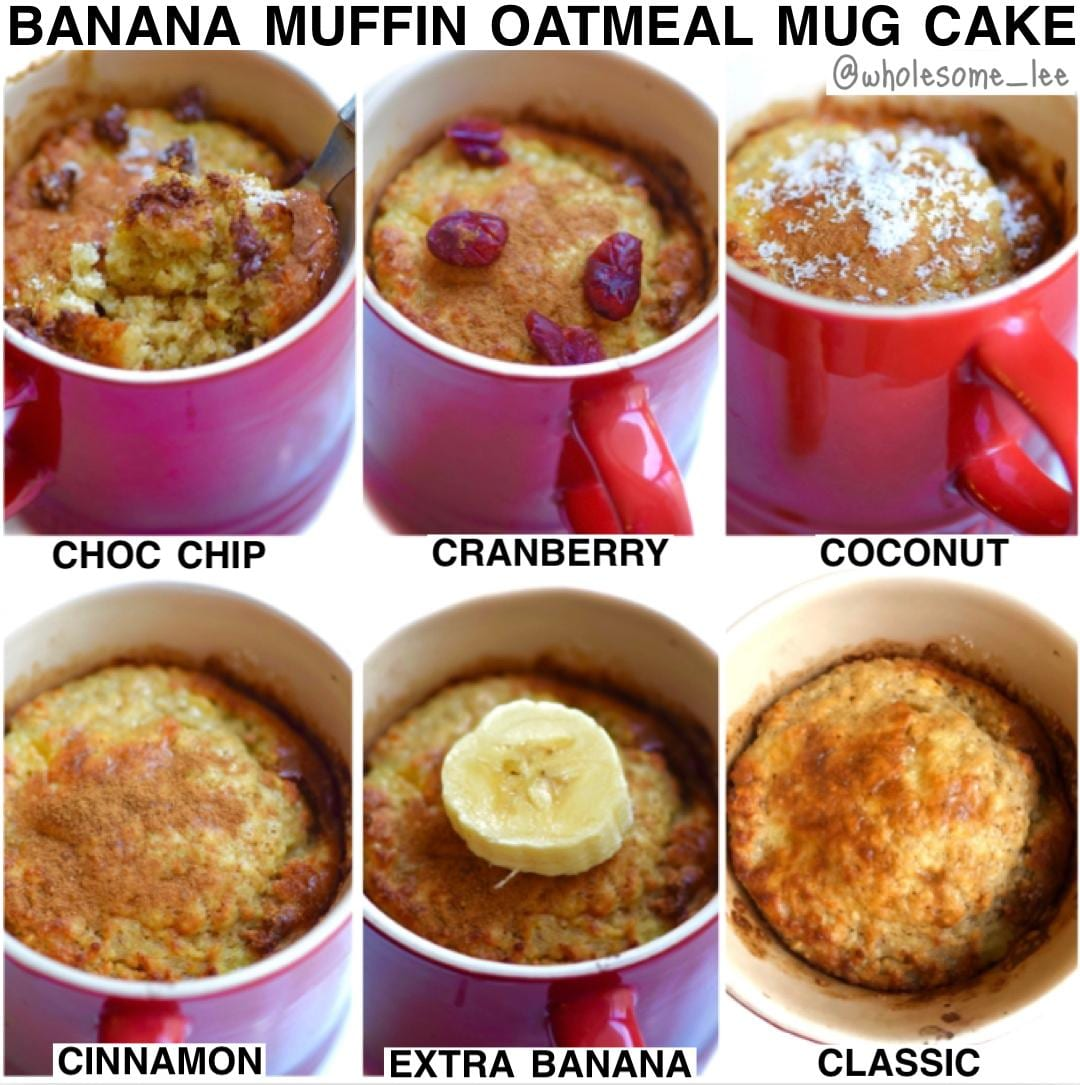 Single Serving Banana Oatmeal Muffin