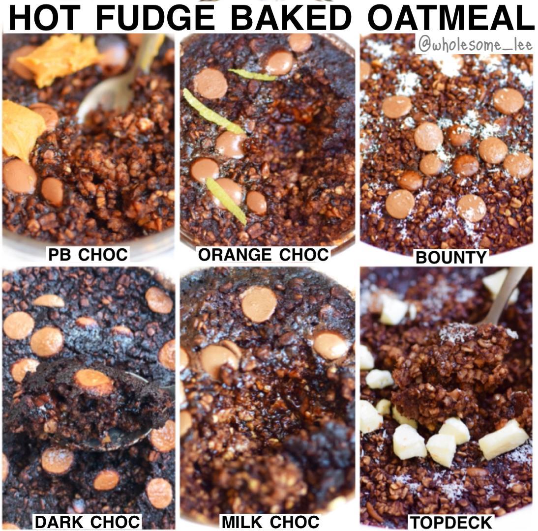 Hot Fudge Baked Oatmeal