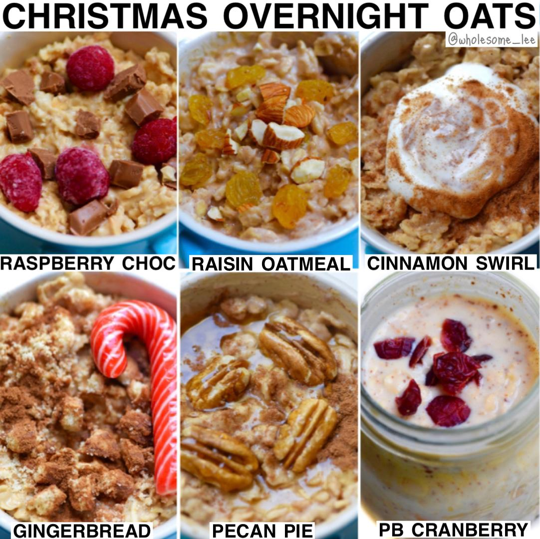 Overnight Oats- 6 Flavors For Christmas