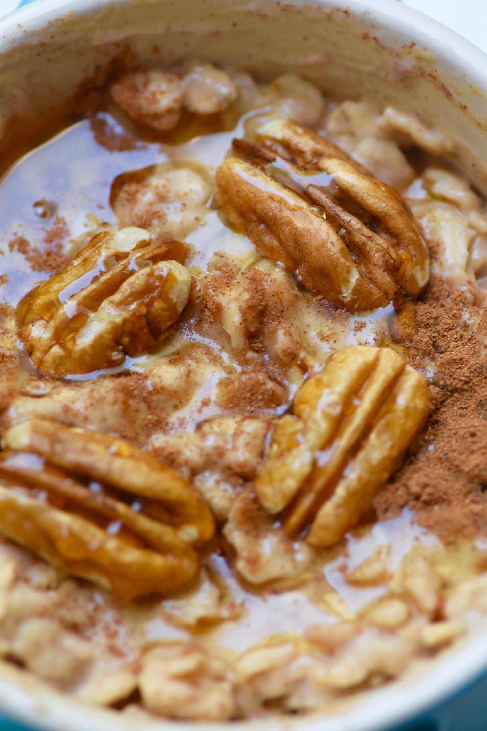 Pecan overnight oatmeal