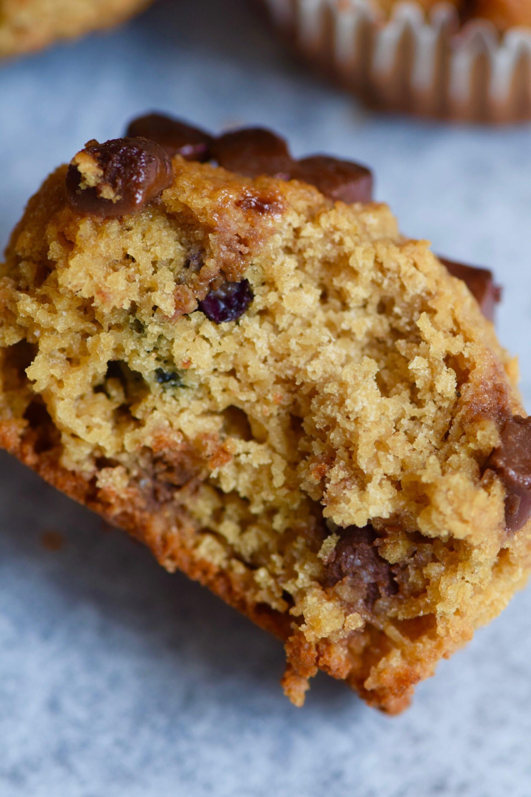 Choc-chip Oatmeal breakfast muffins