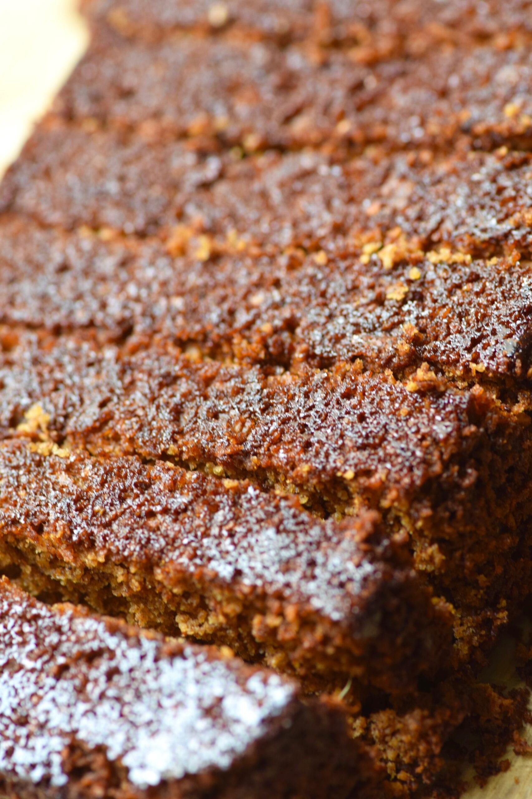 Oatmeal gingerbread loaf