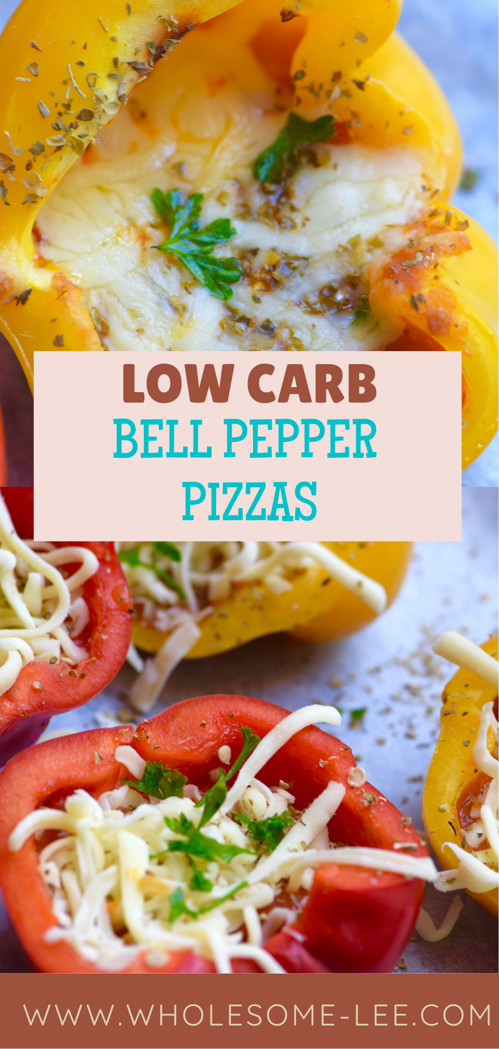 Low Carb Bell pepper pizzas