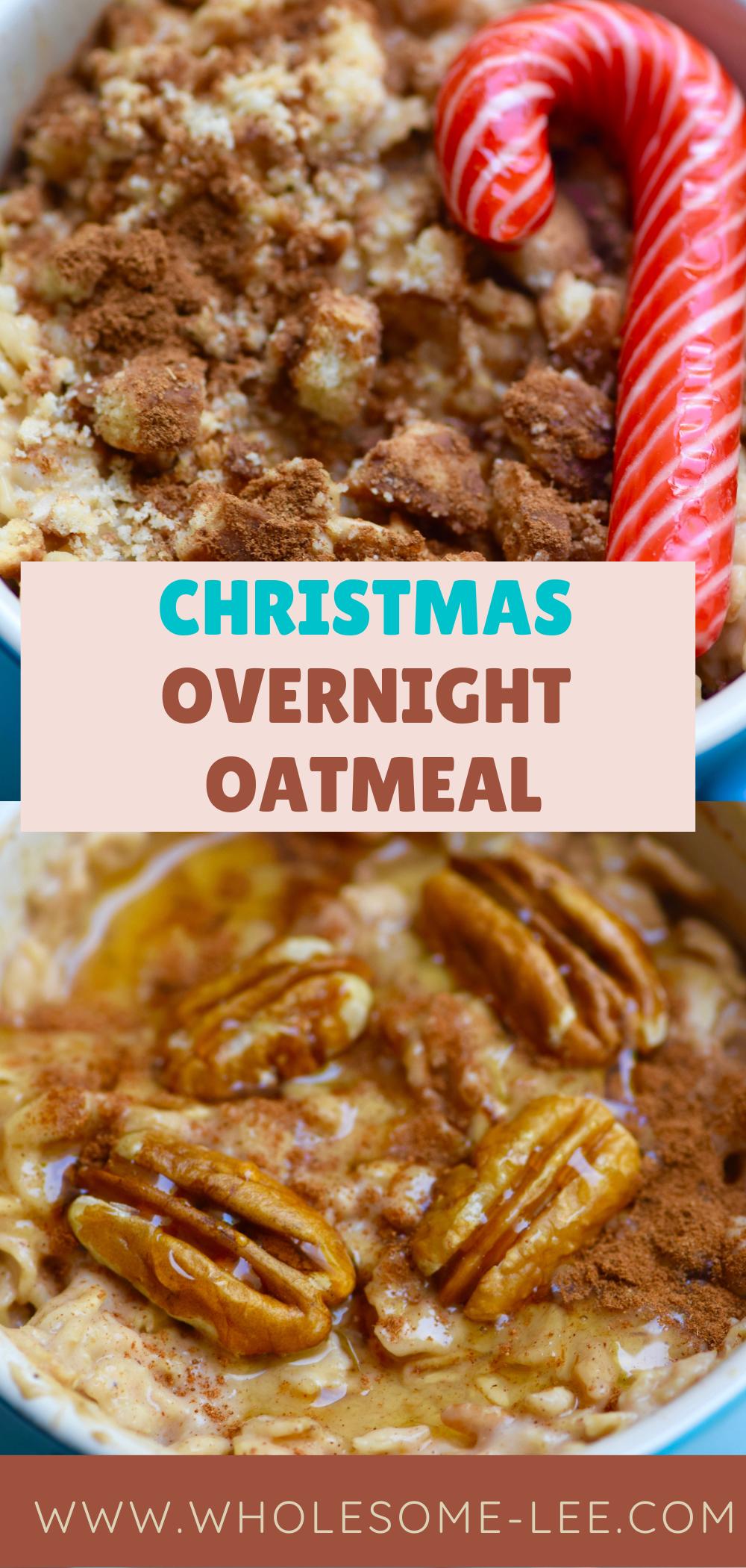 Christmas overnight oatmeal