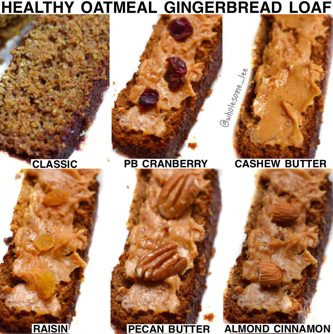 Healthy Oatmeal Gingerbread Loaf