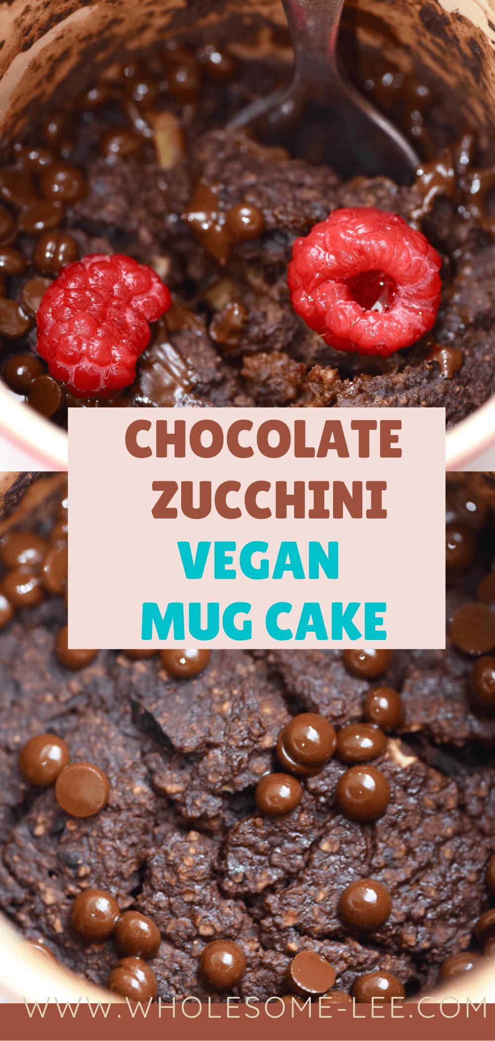 Chocolate zucchini vegan mug cake