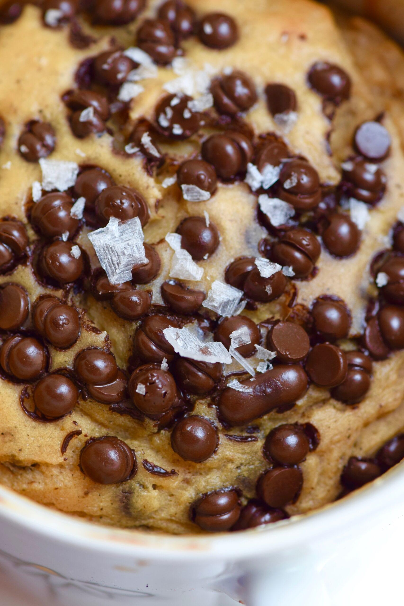 Dark chocolate sea salt single serving baked protein cookie recipe