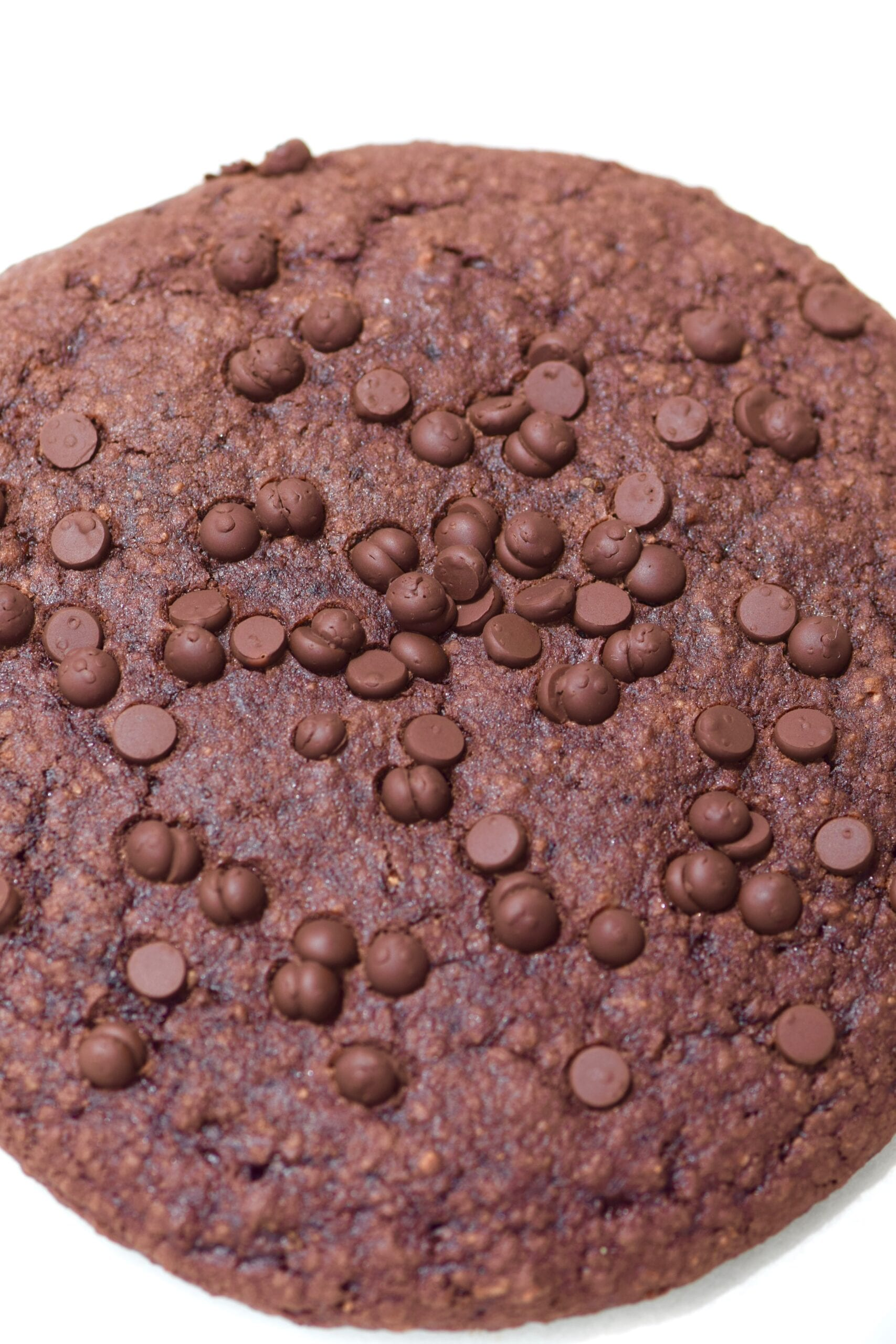 Double chocolate single serving brownie cookie